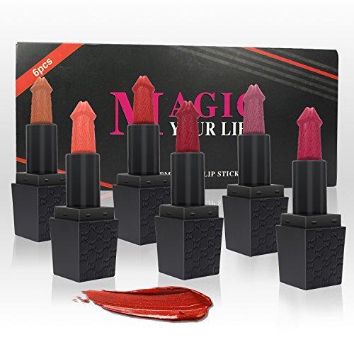6pcs/set Matte Lipstick Sexy Makeup Lipsticks Lip Gloss Long Lasting Lip Stick Cosmetics mini set