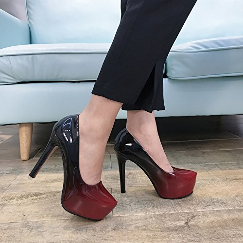 Talon Chaussures Khskx Femme Haut Profession Tête Ronde Unique D'automne Single Peu À Fines Thirty nine Profonde new Nouveau Et D'hiver qgEFPgw