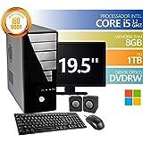 Computador Premium Brazil Intel Core I5 8gb Ddr3 HD 1Tb DVDRW Windows Monitor 19.5 + KIT