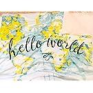 Hello World Snuggle Blanket // Baby Bedding