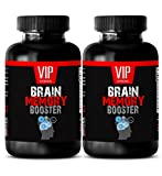 Brain and nervous system tonic - BRAIN MEMORY BOOSTER (POWERFUL FORMULA) - St johns wort and ginko biloba - 2 Bottles 120 Capsules
