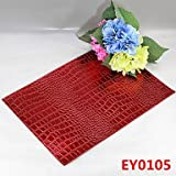 WWQY 6 Crocodile Texture Leather Without Washing Placemat / Wedding Party Decoration / Table Decoration / Weddings / Dinner , animal