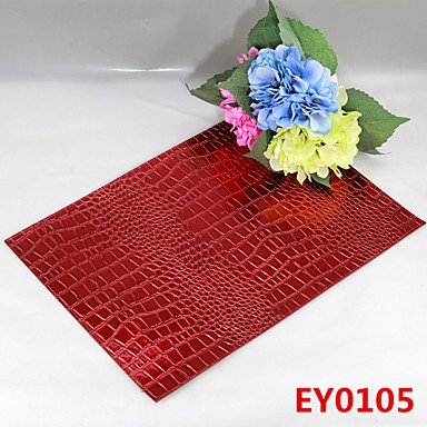 WWQY 6 Crocodile Texture Leather Without Washing Placemat / Wedding Party Decoration / Table Decoration / Weddings / Dinner , animal by WWQY home