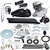 Sange 2 Stroke Pedal Cycle Petrol Gas Motor Conversion Kit Air Cooling Motorized Engine Kit for Motorized Bike (80cc Silver)
