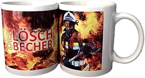 Feuerwehrstore Feuerwehr Tasse Löschbecher Mit Heißem Motiv 340 Ml Kaffe Tasse Tee Tasse Geschenk Weihnachten Tombola Preise Geburtstag Feuerwehr Mann Frau Kind Jugend Feuerwehr Keramik Amazon De Küche Haushalt
