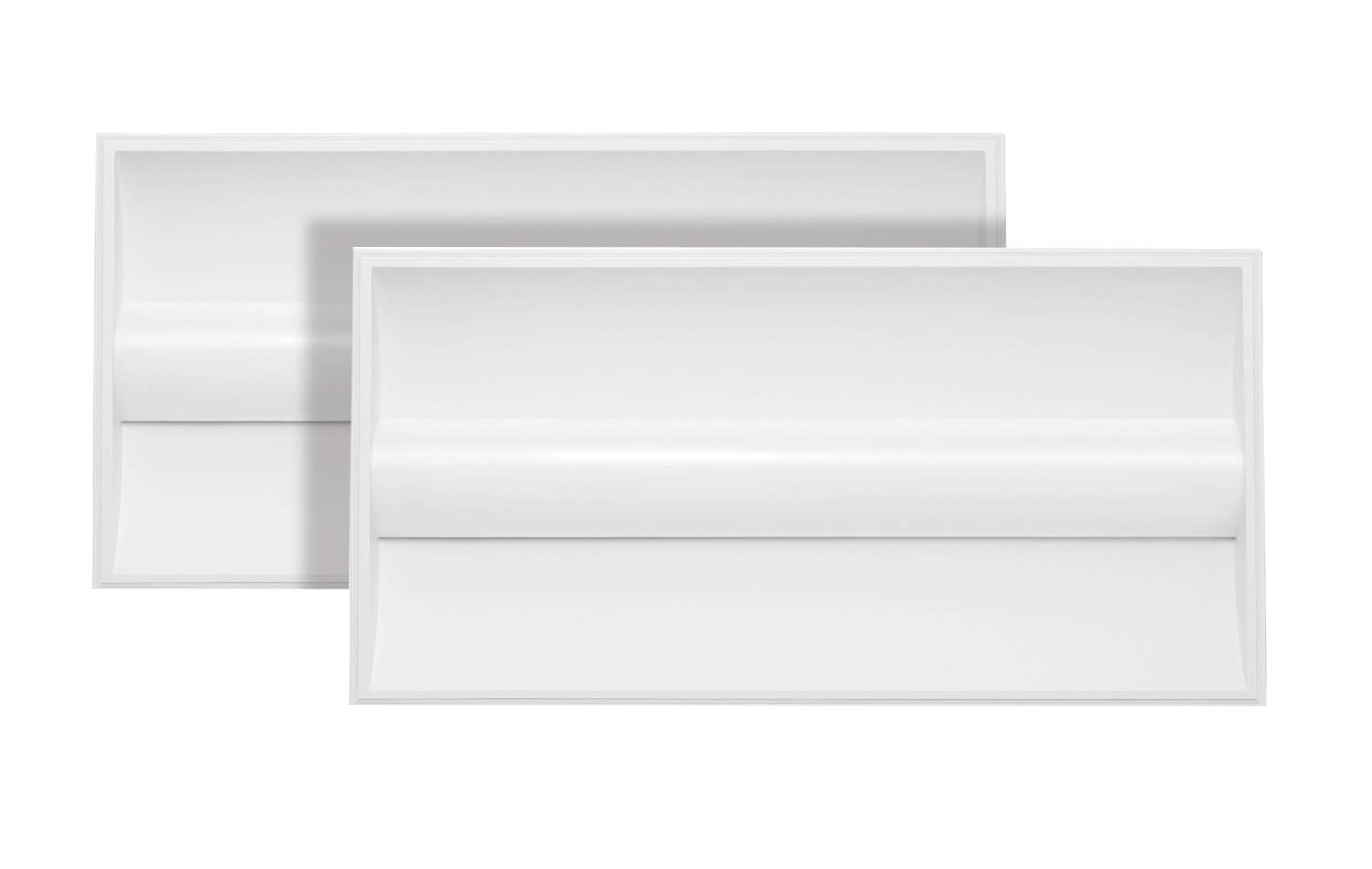 2-Pack Neox LED Architectural Troffer 2x4 Dimmable Panel, Volumetric Troffer, 35W 4320lm 4000K (Bright Light), Commercial Grade, UL Listed DLC Certified