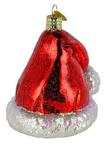 Old World Christmas Santas Hat Glass Blown Ornament
