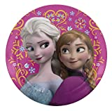Zak Designs Disney Frozen 8-inch Plastic Plate for Kids, Elsa & Anna