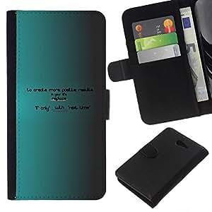NEECELL GIFT forCITY // Billetera de cuero Caso Cubierta de protección Carcasa / Leather Wallet Case for Sony Xperia M2 // Crear más ahora hay próxima vez