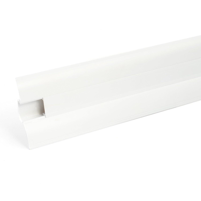 2,5m SOCKELLEISTEN 62mm WEI/ß Fussleisten aus Kunststoff PVC Laminat Dekore