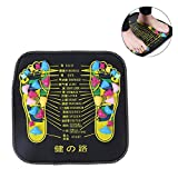 Foot Massager Mat, Reflexology Feet Acupuncture Points Massage Stone Pad For Relieve Pain, Fatigue, Flatfoot Sore with Square Shape