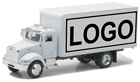 Shop72 Personalized Diecast Trucks - 1:43, 1:32, 1:24 Customized Trucks -  White Box Truck with Logo or Name for Promotional Use