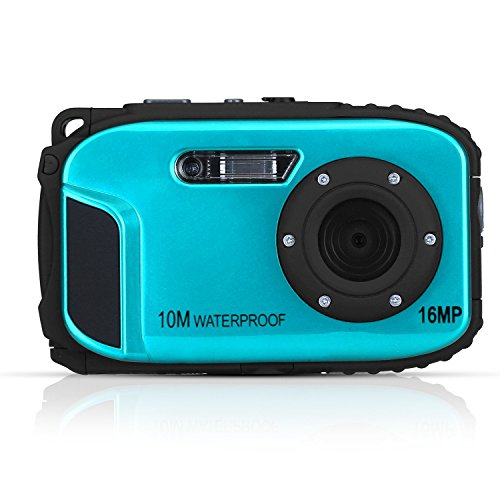Fitiger Underwater 10m Waterproof Camera 2.7inch LCD 16MP Digital Camera 8x Zoom Compatible with Windows Vista/XP/7 System-Blue by Fitiger