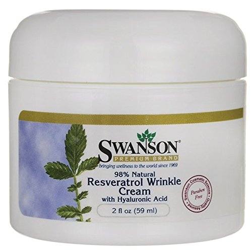 Swanson Resveratrol Wrinkle Cream with Hyaluronic Acid 2 fl oz (59 ml) (Swanson Products)