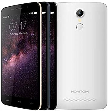 HOMTOM HT17 Android 6.0 Smartphone 4G 5.5 pulgadas HD de reconocimiento de huellas digitales de 64 bits MTK6737 Quad Core de 7,9 mm de espesor (blanco): Amazon.es: Electrónica