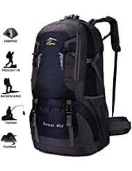 camgo Hiking Backpack, Outdoor Sport Daypack for Backpacking Climbing Mountaineering Cycling Trekking Travel