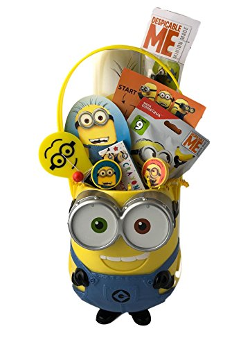 Despicable Me Minion Prefilled Easter Basket Toy Figure Game Activity NoSugar Gift