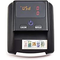 Iriisy Detector Billetes Falsos, Detector automático de billetes falsos, Portátil de Billetes de Banco Detección UV…