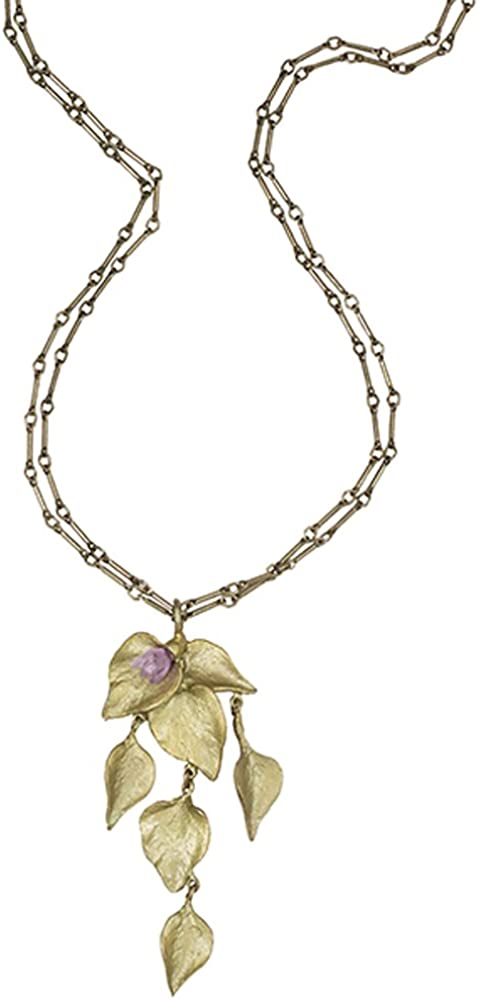 Autumn Birch Leaf Necklace By Michael Michaud for Silver Seasons/…