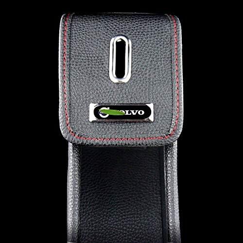 (2PCS)車多機能革の収納ボックス、カーシートギャップ主催、ロゴとボルボのためにグローブボックスの収納ボックス、カップホルダー、 (Color : A)