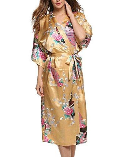 Belego - Albornoz - chaqueta guateada - para mujer amarillo