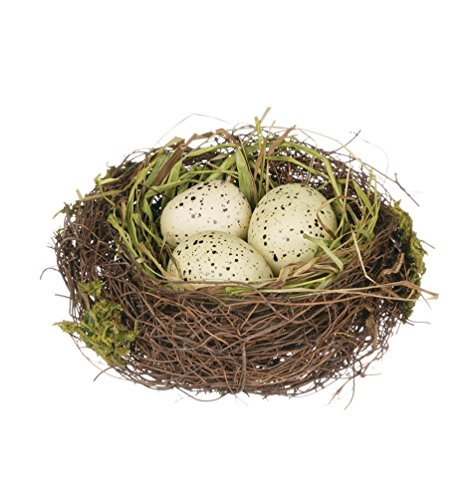 Sullivans 4'' Replica Bird's Nest with Yellow Spotted Eggs by Sullivans