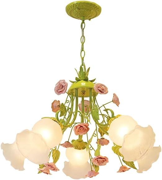 romantique Fleurs salle à manger Lustre Pastoral Salon