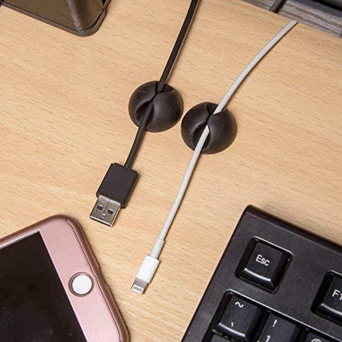 Kabel-Organizer 18 St/ück Kabel-Organizer f/ür USB Schwarz Zuhause Lvcky Kabel-Clips Laptop 2,8 x 1,5 cm PC Kunststoff Selbstklebende Kabel-Halterung B/üro TV