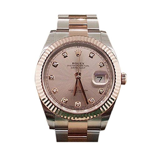 Rolex Datejust Ii 41mm Sundust Diamond Dial Rose Gold And Steel Men's Watch - Gold Watches Rolex Rose