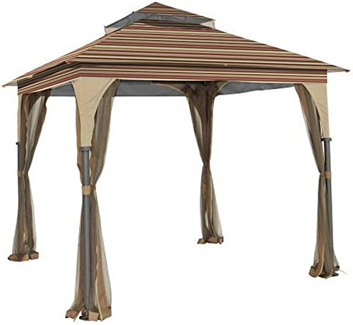 Garden Winds Replacement Canopy for L-GZ375PST-3 Gazebo – 350 – Stripe Canyon