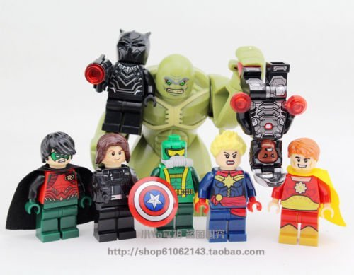 new 8pcs Minifigures Abomination Black Panther Building Blocks Toy