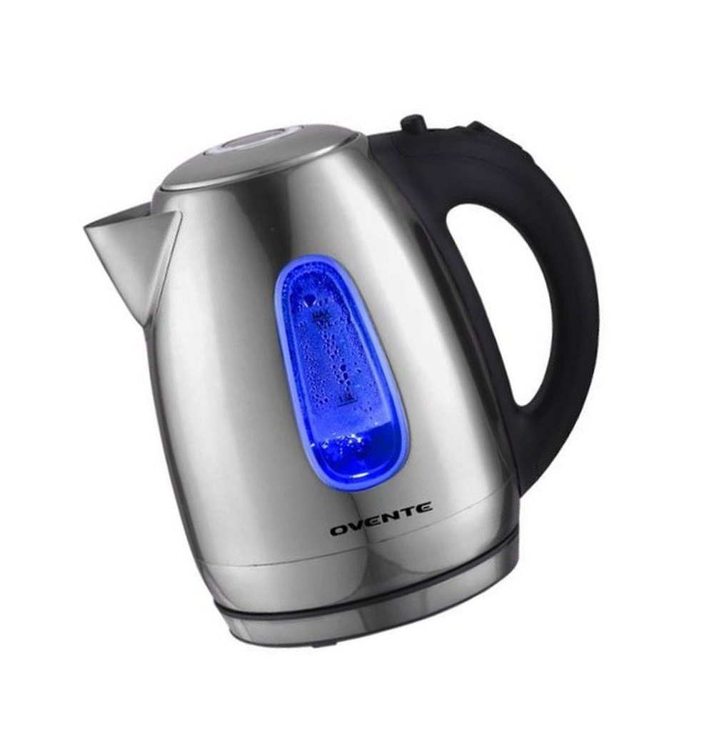 Green_Kitchen Ovente 1.7 Liter BPA-Free Stainless Steel Cordless Electric Kettle, 1100-Watts, Auto Shut-Off and Boil-Dry Protection, Matte Black Cool-Touch Handle by Green_Kitchen