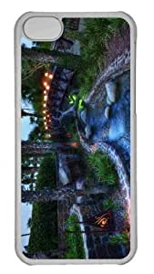 Customized iphone 5C PC Transparent Case - The Mysterious Bridge With The Green Glow Underneath Personalized Cover