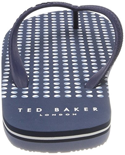 Ted Baker Herren Flyxx 5 Zehentrenner Blau (Dark Blue Burr Print)