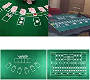 Texas Hold'em Poker Mat Portable Poker Table Top Foldable Card Game Mat, Smooth Premium Surface, Noise Red