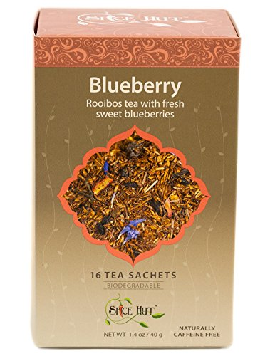 The Spice Hut Rooibos Blueberry Tea, 16 Count