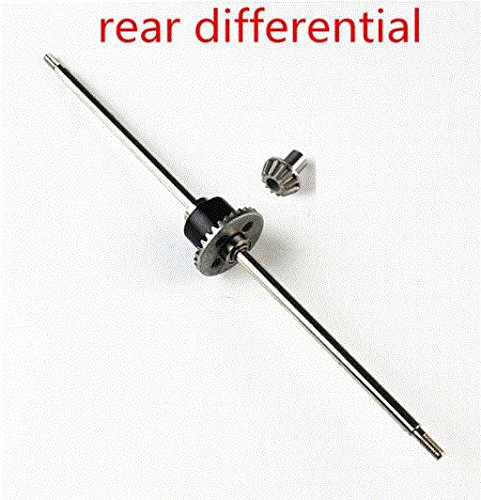 TOTS Wltoys 12428 12428-A 12428-B 12428-C RC Car Spare Parts Upgrade Metal Rear Differential With 12T Drive Gear