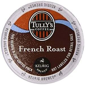 Tullys Coffee Dark Roast, French Roast, 12 ct K, Cups for Keurig Brewers