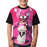 Pink Cuddle Team Leader Kid's Boy's Girl Short Sleeve Round Neck Funny Tops T Shirts M