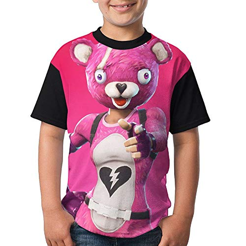 Pink Cuddle Team Leader Kid's Boy's Girl Short Sleeve Round Neck Funny Tops T Shirts M -