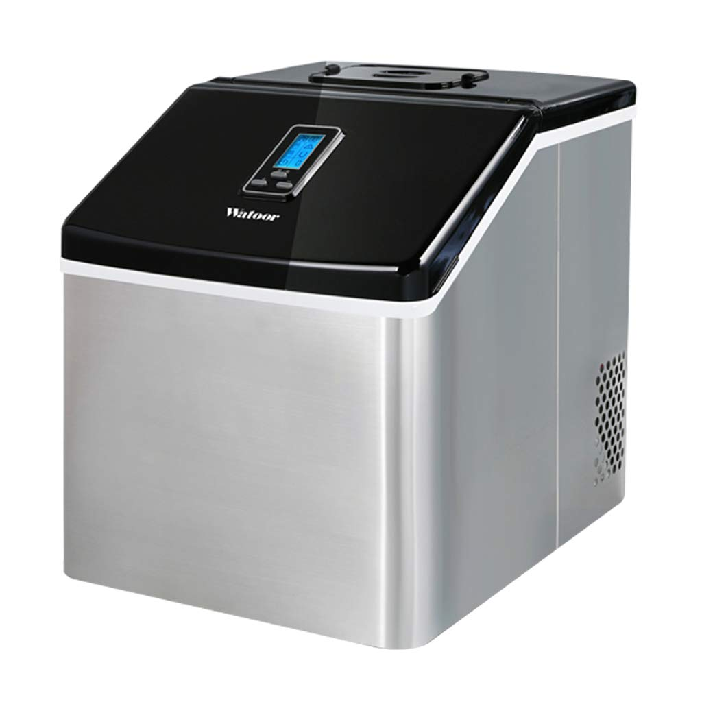 WHJ@ Ice Machine 25kg Commercial Small Tea Shop Manual Household Bar Desktop Ice Cube Ice Machine Small Commercial Household Ice Machine Stainless Steel by WHJ-Ice maker