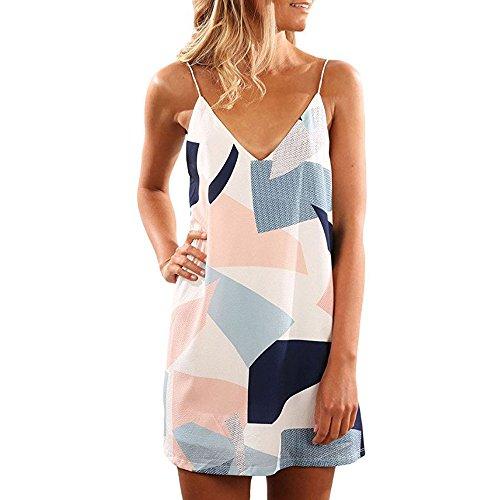Mini Print Spalline Vestitino Donna Chiffon Blu Maniche L Senza TIAQUE Floreale Dress qRIw86n