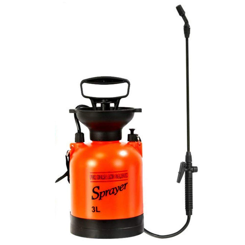 Homeself 3L Garden Pressure Sprayer, 0.8 Gallon Pump Action Lawn Yard Pressure Sprayer Compressor with Shoulder Strap for Lawn and Garden Insects and Weed Killer, Wash The Car (3L)