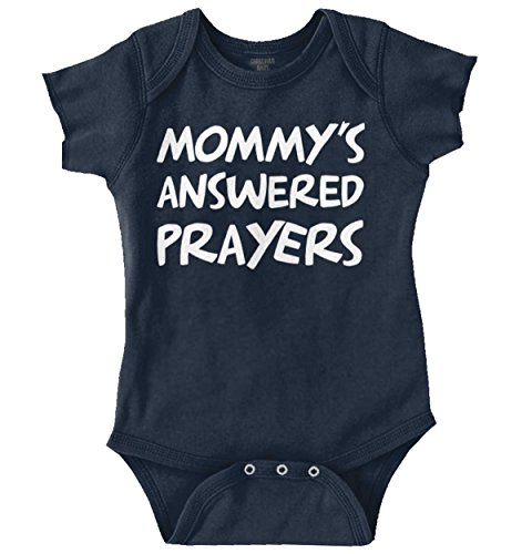 Brisco Brands Mommy's Answered Prayers New Parents Christian Baby Gifts Cute Onesie Bodysuit (Answered Prayer)