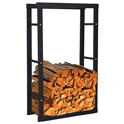 Zelsius - Kaminholzregal, Ständer für Kaminholz in verschiedenen Größen verfügbar ((H) 100 x (B) 40 x (T) 25 cm)