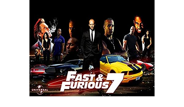 The Fast and the Furious 7 Vin Diesel Paul Walker Edible Cake Topper Image C01 L01 - 1/2 sheet: Amazon.com: Grocery & Gourmet Food