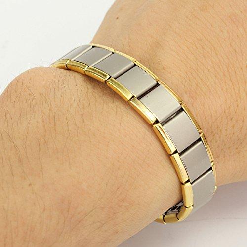 Stainless Steel Jewelry Health Healing Bracelet Energy Men R7rwR