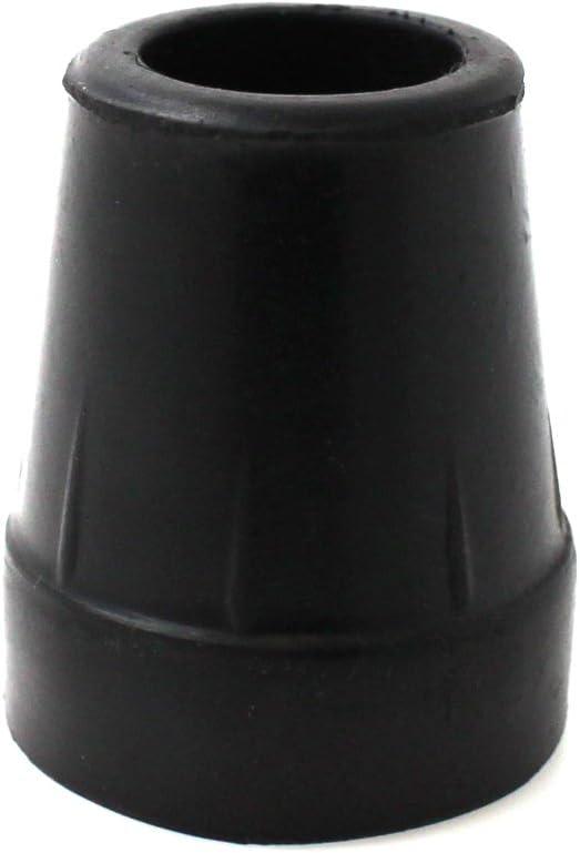 Cantidad 4x: 19mm Conteras De Goma Para Bastones - Negro - Por Lifeswonderful®