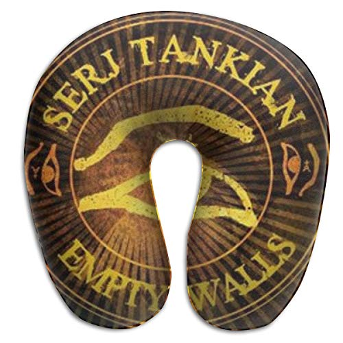 NA Custom Colorful Neck Pillow Serj Tankian Logo American Football Team Rest for Airplanes Travel Pillow Comfort and Convenience Sleeping Neck Pain U-Shaped Pillow