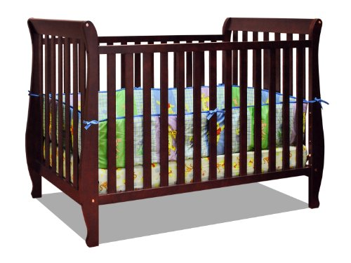 Athena Naomi 4 in 1 Crib with Toddler Rail, (Athena Finish)